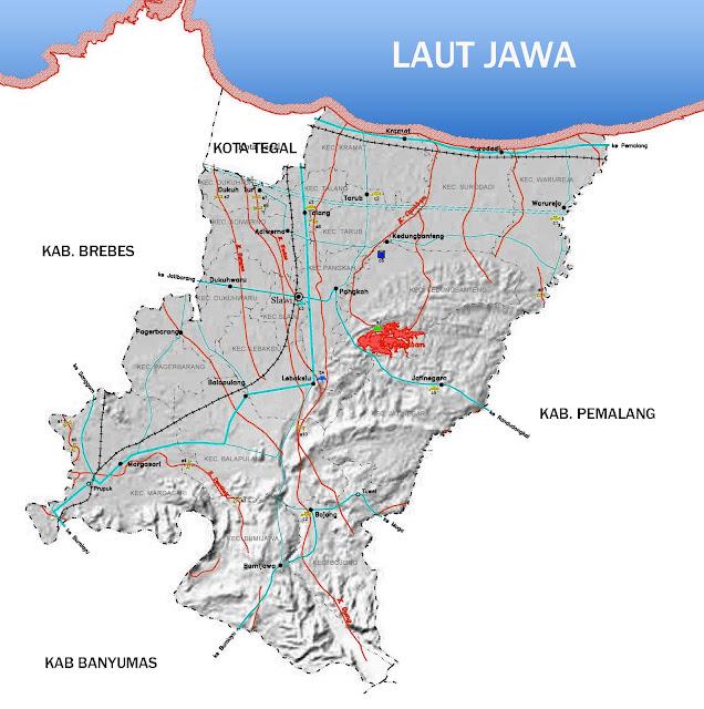 Gambar Peta Infrastruktur Kabupaten Tegal