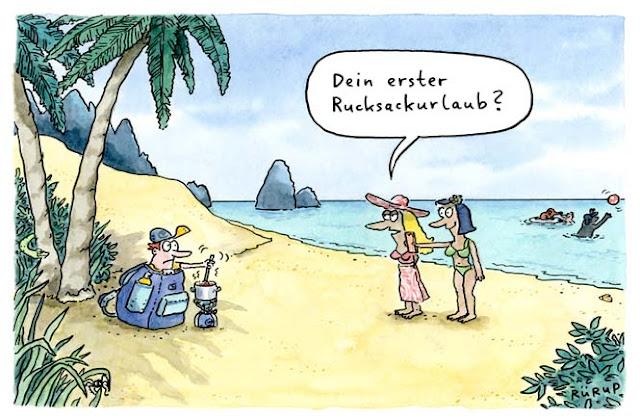 Urlaub, Ferien, Holiday, Meer, Strand, Beach, Kochen, Camping, Campingkocher, Rucksack, Rucksackurlaub, Reise, Strandspaziergang