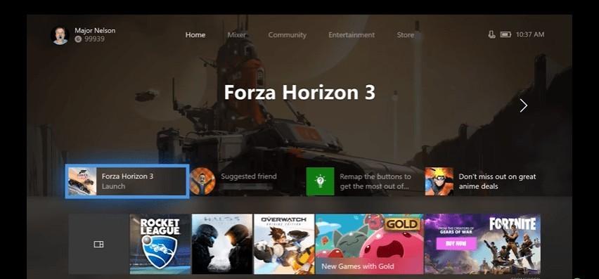 Así luce la nueva interfaz de Xbox One, más rápida y clara