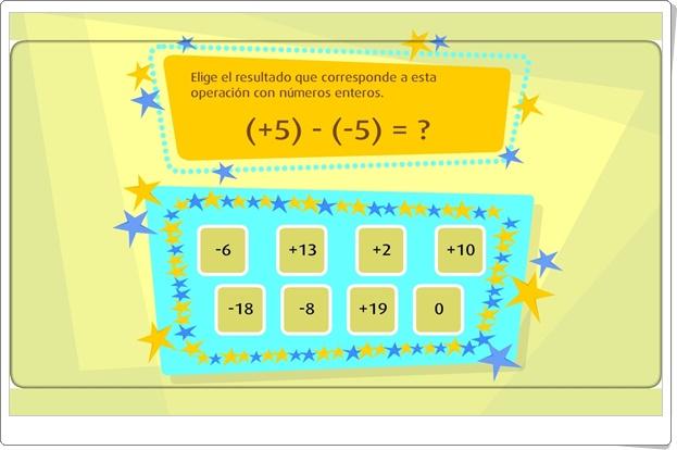 """""""Restar números enteros"""" (Juego de Matemáticas)"""