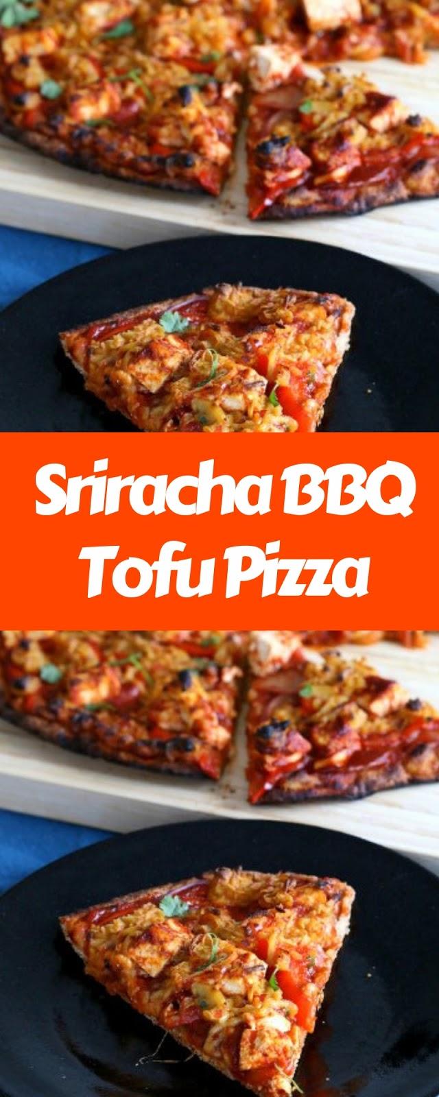 Sriracha BBQ Tofu Pizza