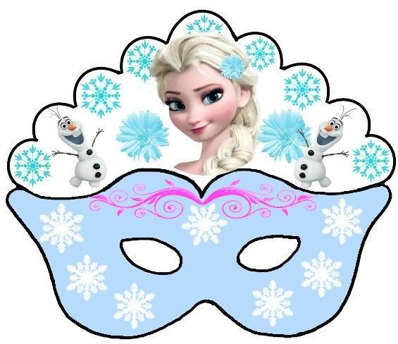 Olaf and Elsa: Free Printable Mask