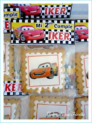 papelería personaliza y galletas cars