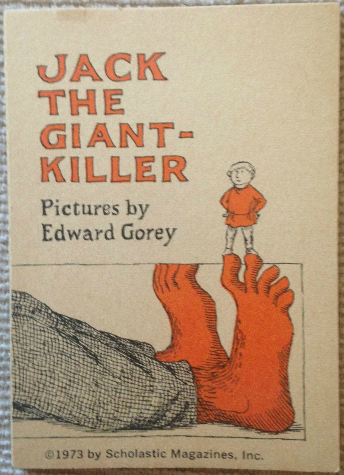 This Miniature Version Of Jack The Giant Killer Was Published In 1973 By Scholastic Magazines As Fourth Volume Its Series Lucky Mini Books