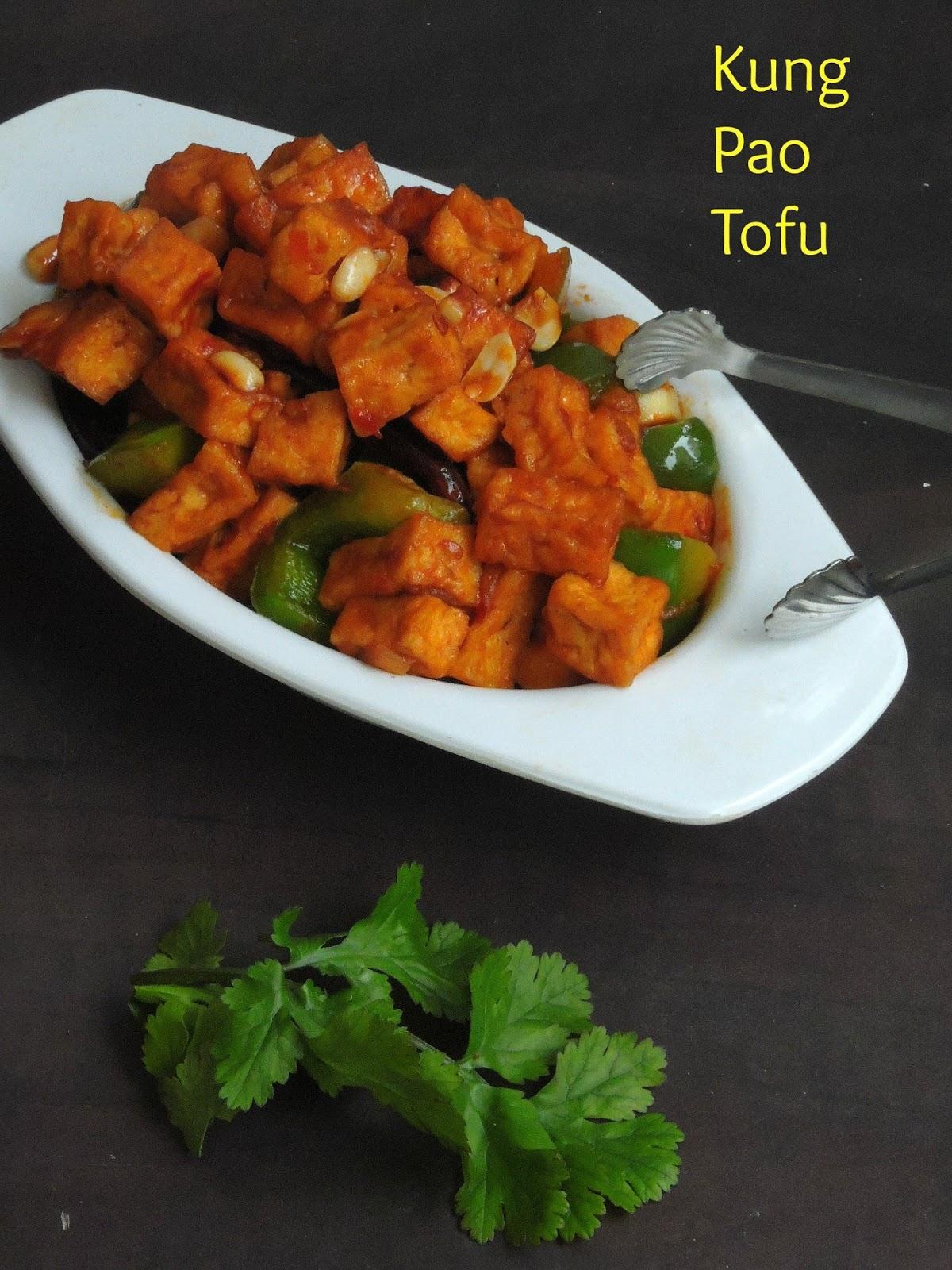 Priya's Versatile Recipes: Kung Pao Tofu/Vegan Kung Po Tofu