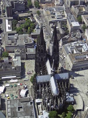 Vista aérea de la Catedrl de Colonia