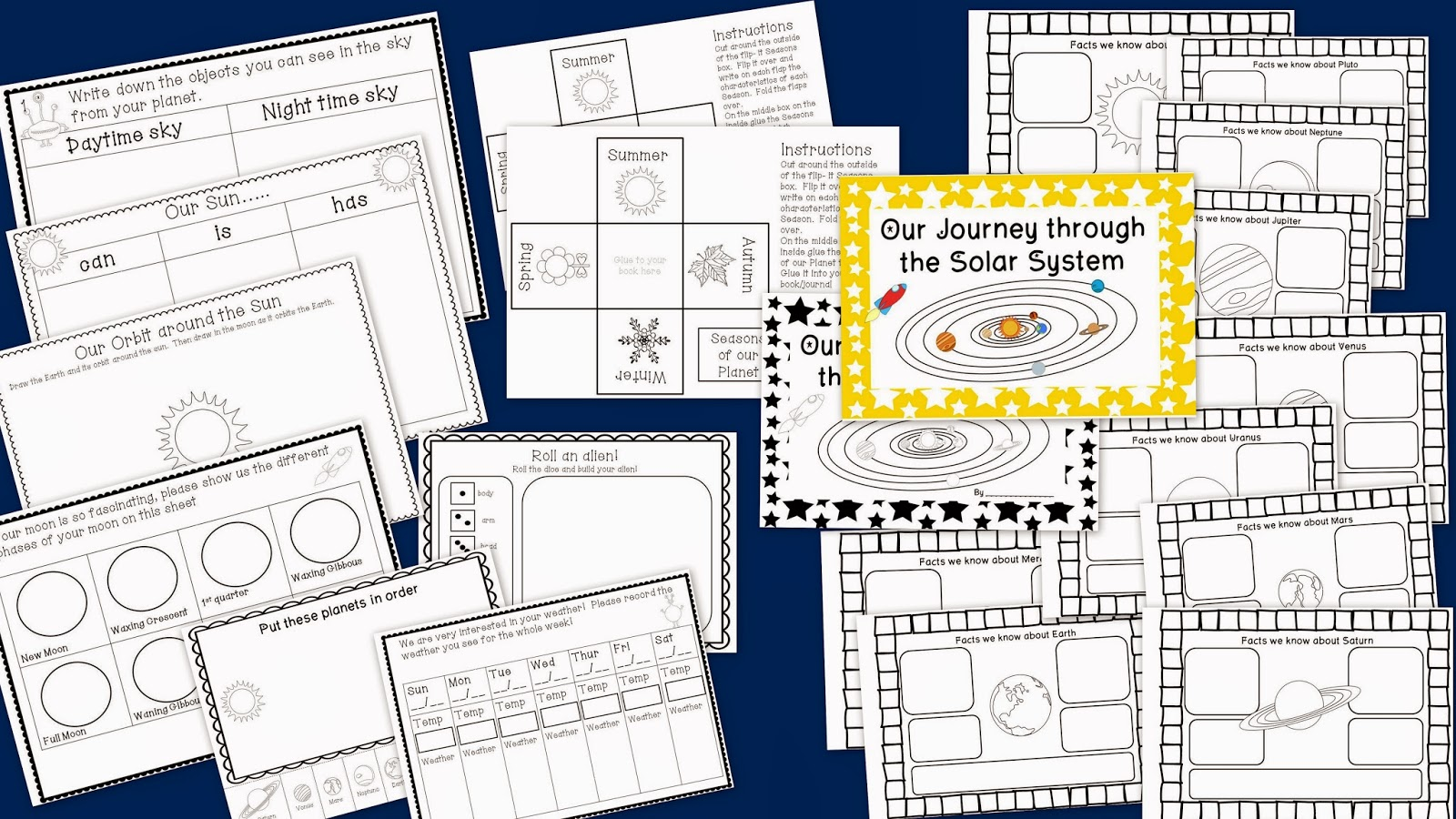 Planet Flip Book FREEBIE! An interactive way to introduce ...