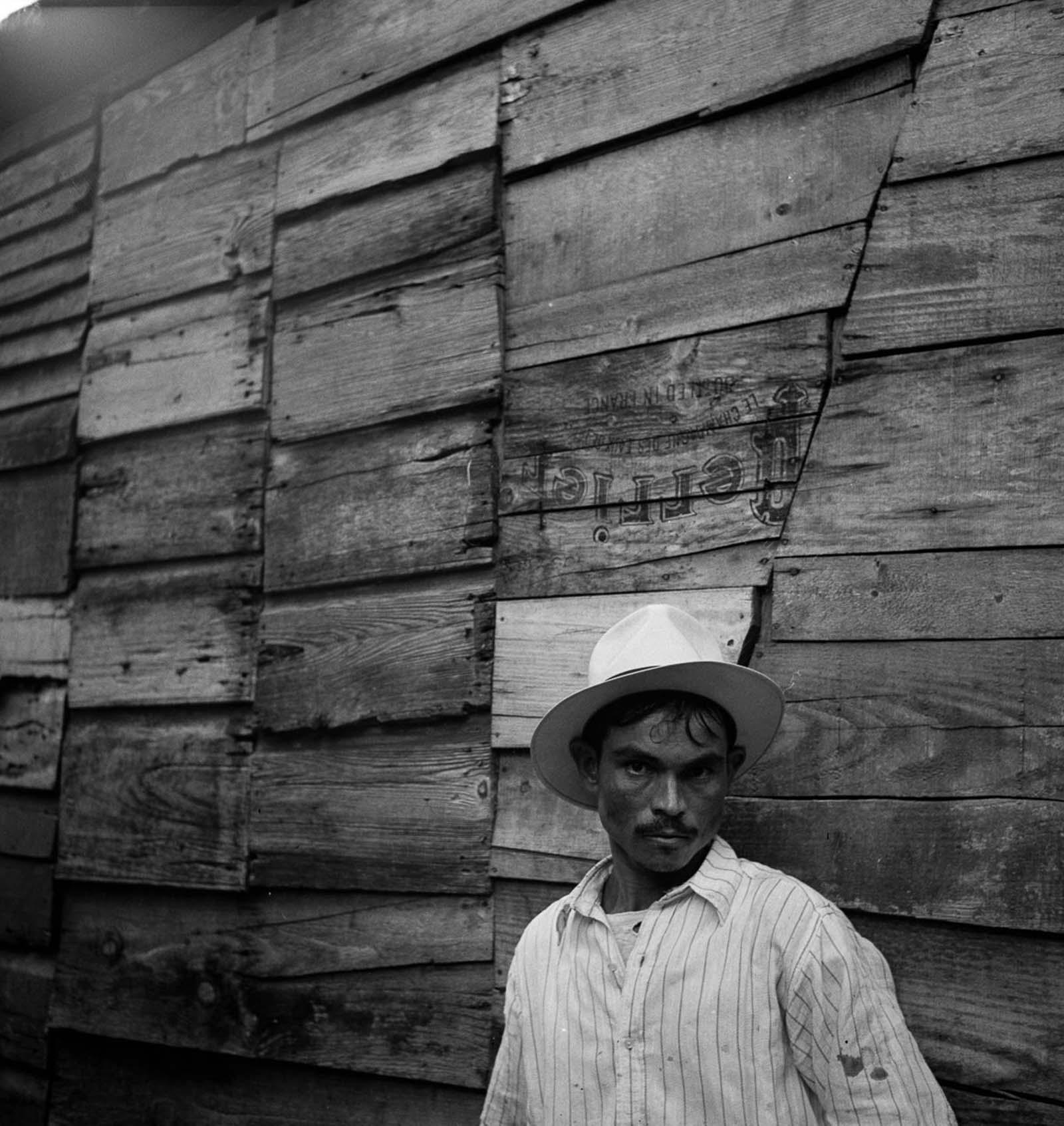 A man in a slum area in Utuado.