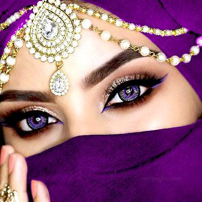 Gold head wear muslim girls dp