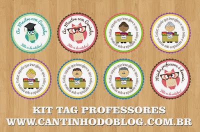 Tag e etiquetas para o Dia dos Professores