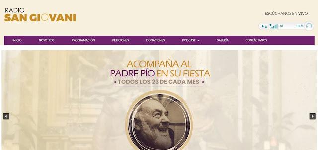 Radio San Giovani, radio católica de Guayaquil, Ecuador. Desarrollo del sitio web.
