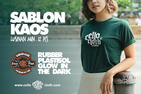 Sablon Kaos Manual Rubber Plastisol Glow In The Dark