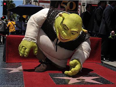 Shrek na calçada da fama