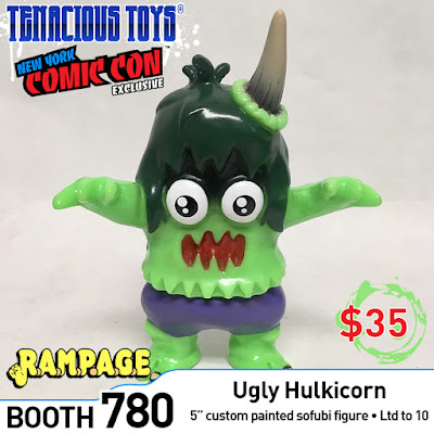 New York Comic Con 2018 Exclusive Ugly Hulkicorn Vinyl Figure by Rampage Toys x Tenacious Toys