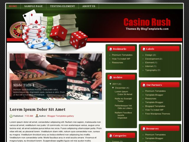 Casino Rush Blogger Template