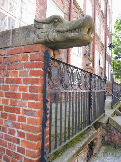 What to see in Gdansk Poland: gargoyle rain gutters