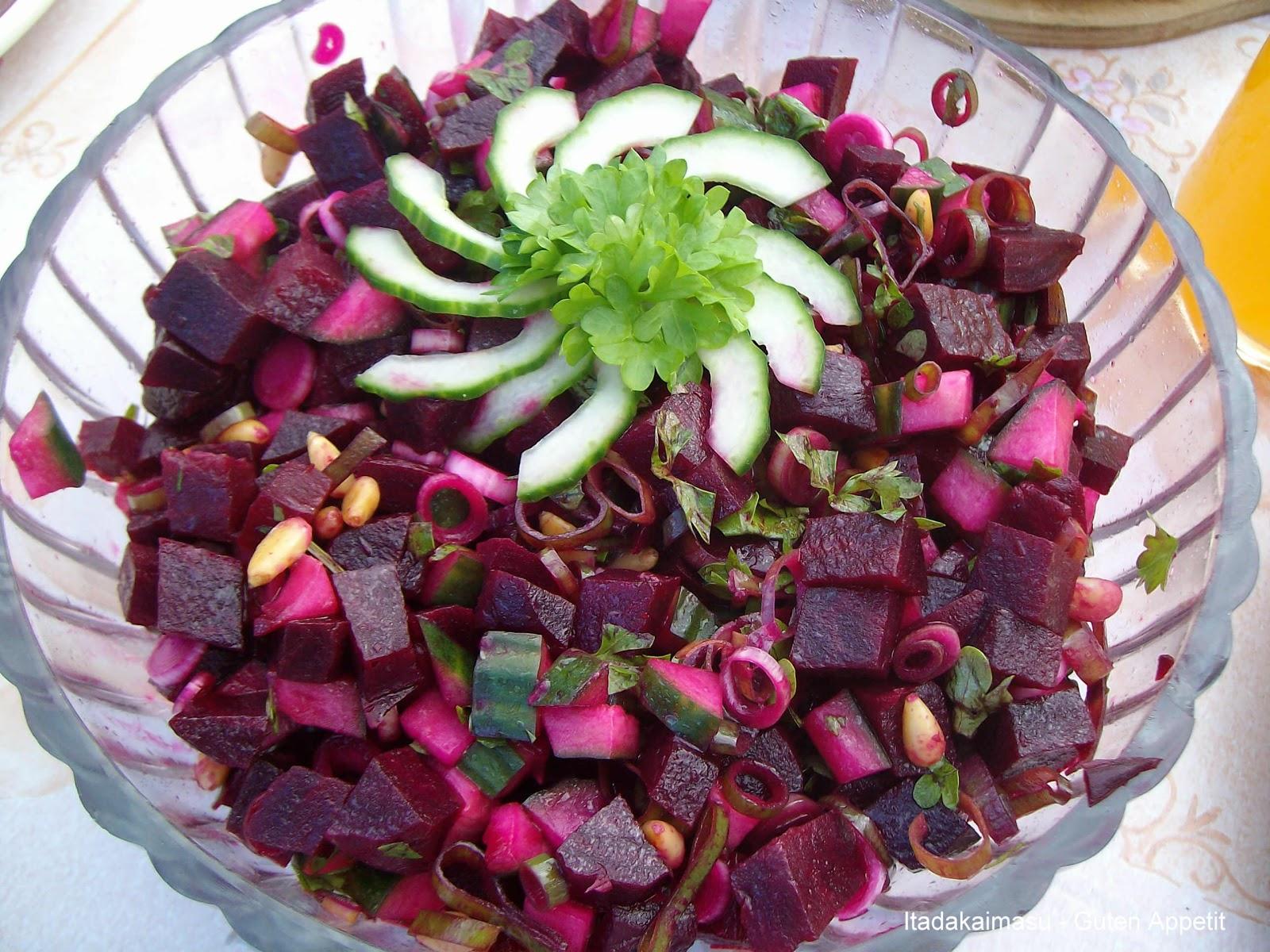 itadakimasu guten appetit rote bete salat. Black Bedroom Furniture Sets. Home Design Ideas