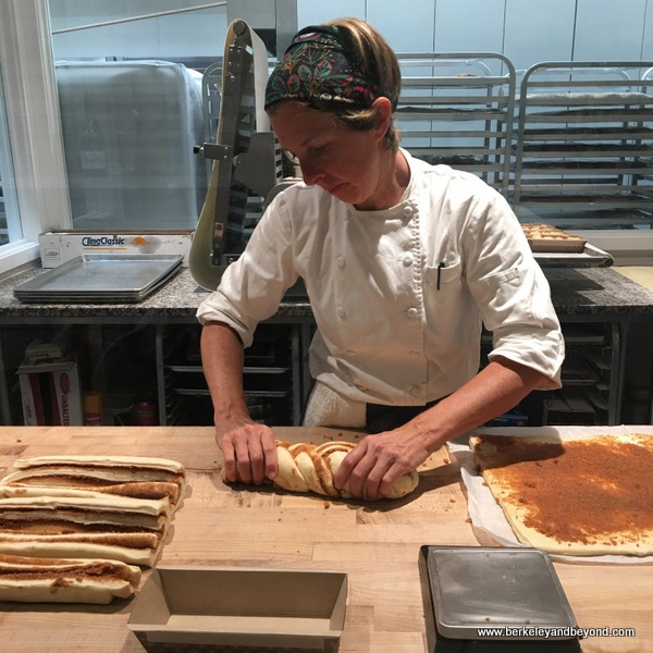 making cinnamon twist at One House Bakery in Benicia, California