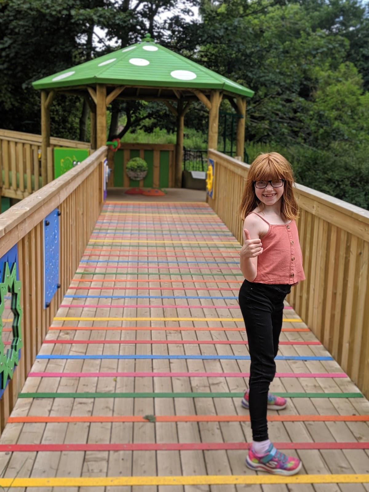 Harestanes Park, Jedburgh  - sensory boardwalk