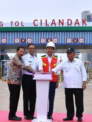 Peresmian Tol Depok Antasari (Desari) Oleh Bapak Presiden Jokowi