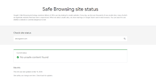 Safe Browsing site status
