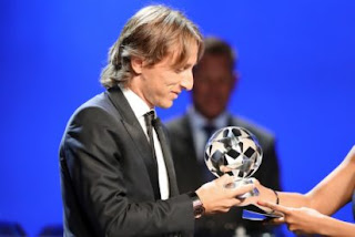 It was an honour to win the Balloon D'or title luka Modric