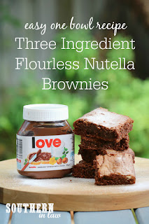 Gluten Free Three Ingredient Flourless Nutella Brownies Recipe