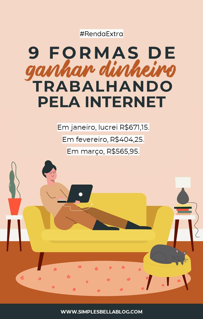 9 formas de ganhar dinheiro extra trabalhando pela internet