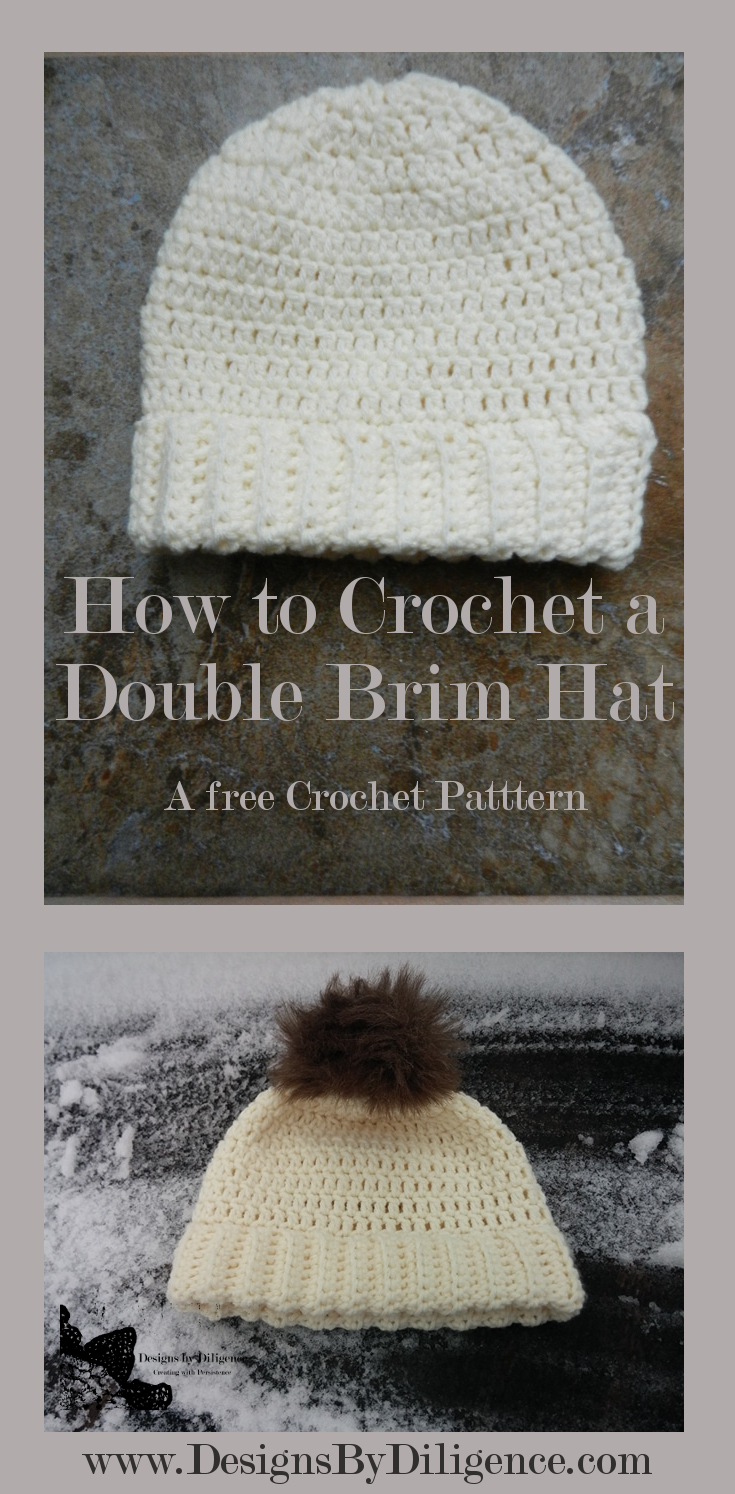 Designs by Diligence  How to Crochet a Double Brimmed Hat 04c30f875e4