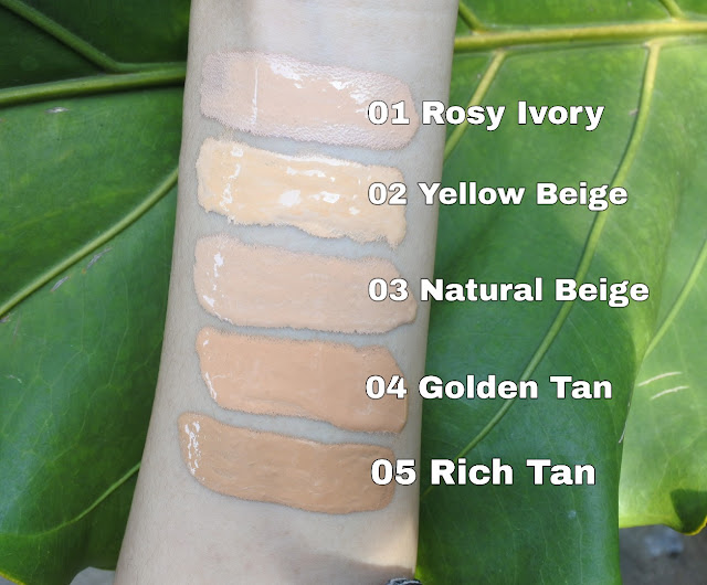 shade lengkap Pixy Stay Last Serum Foundation