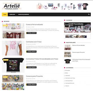 Artes e Site Arteliê Personalizados