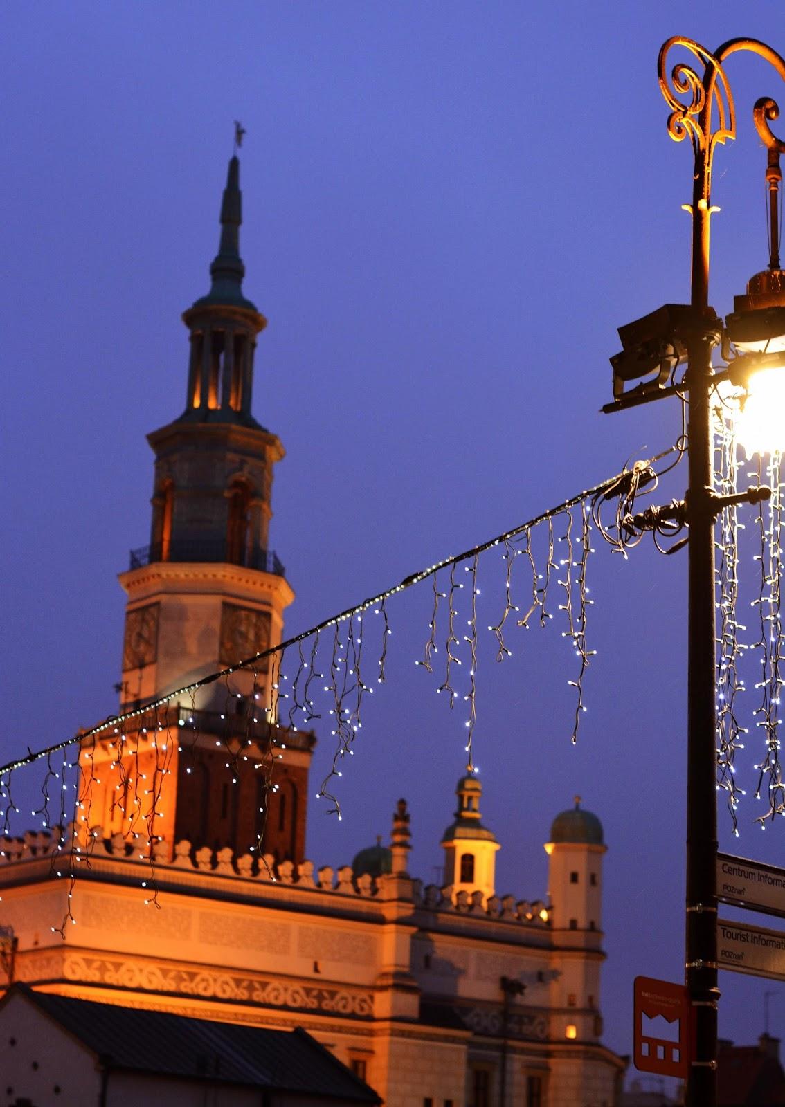 poznan na swieta, swiateczny, posen, polska, lampki, lights, christmas, swieta