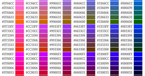 Html Renk Kodlari Renk Kodlari