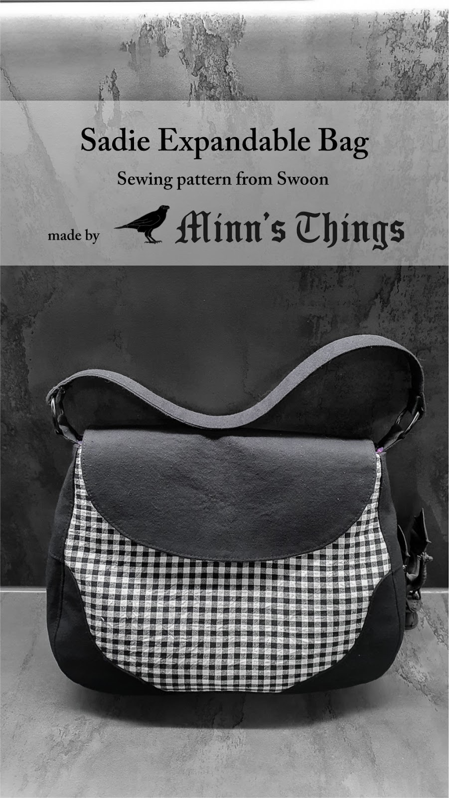 swoon sadie expandable bag sewing pattern minn's things pinterest