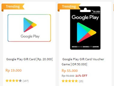 Google Play Gift Card Blibli