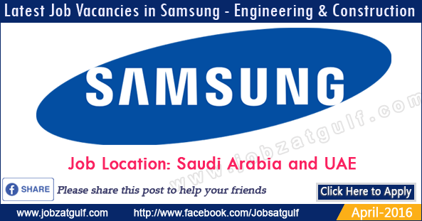Job Vacancies in Samsung - Engineering & Construction ...