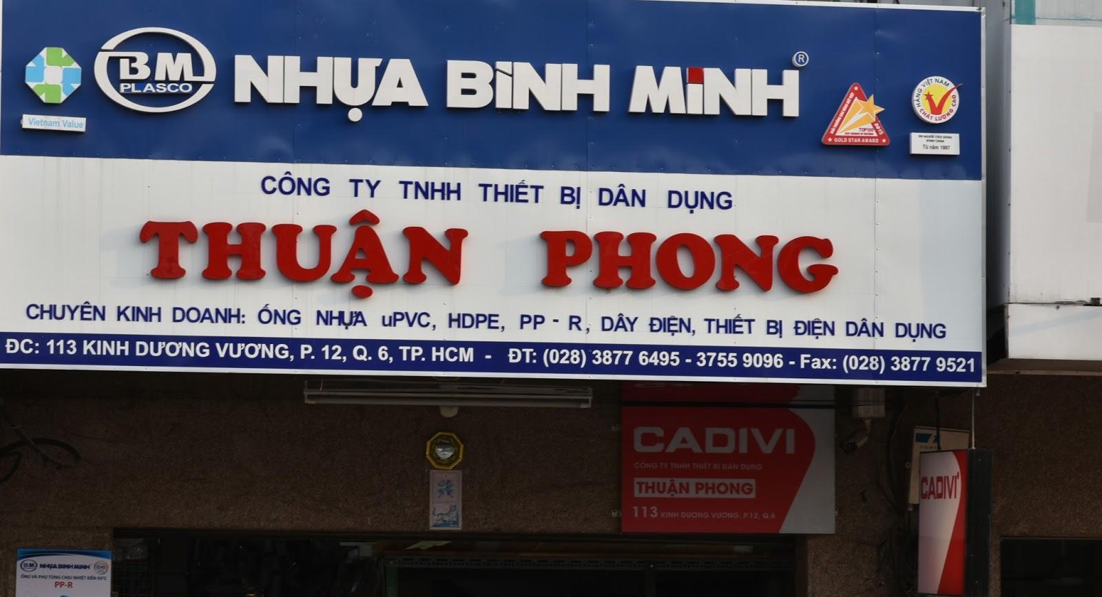 Công ty TNHH thiết bị dân dụng Thuận Phong  Địa chỉ: 113 Kinh Dương Vương, Phường 12, Quận 6, Tphcm.  Hotline nhận bảng giá và chiết khấu: 0906.123.723