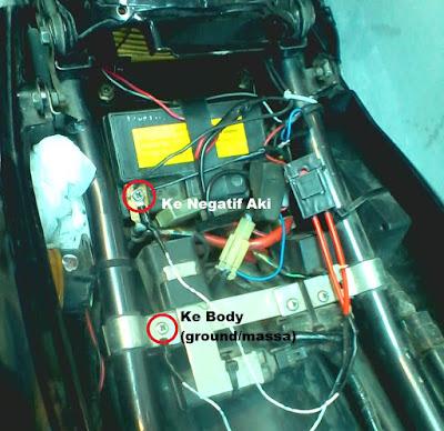 Kabel ground sepeda motor