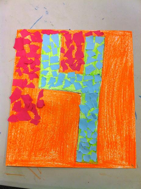 Torn Paper Mosaics Linden Grove Art