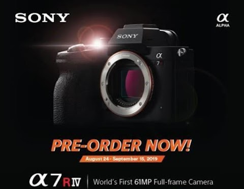 Sony A7RIV now available for Pre-order! The World's First 61MP Full-frame Camera