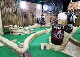 Pirate Adventure Golf course at the New York Thunderbowl tenpin bowling centre in Kettering, Northamptonshire