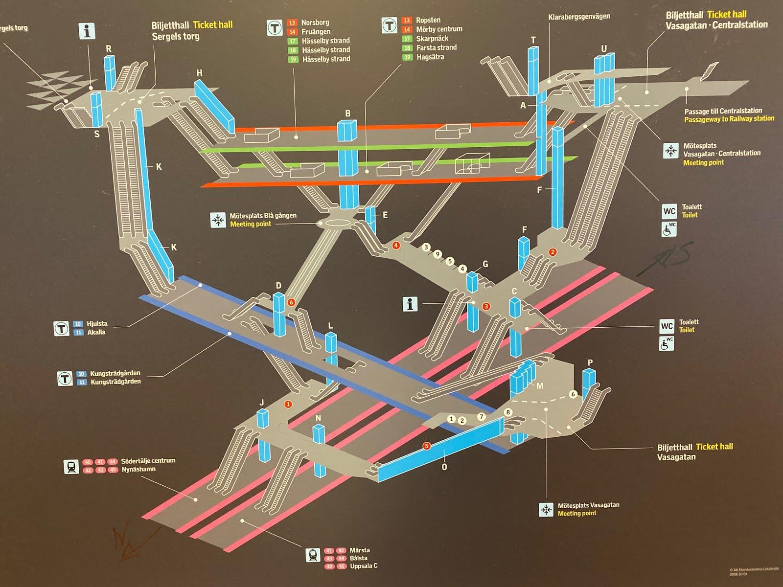 Karta Over Stockholms Central Stockholm City