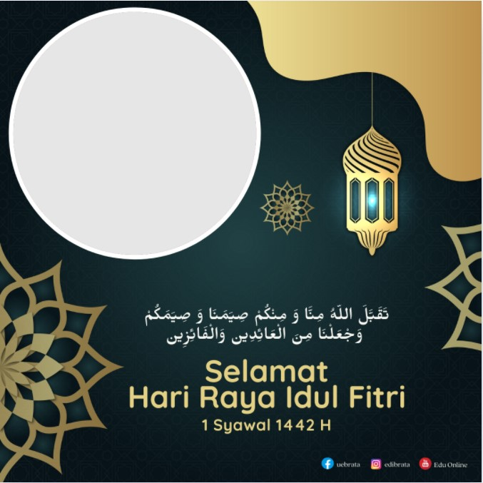 Download Twibbon Selamat Lebaran Idul Fitri 1422 H