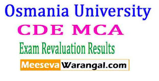 Osmania University (CDE) MCA August 2016 Revaluation Results