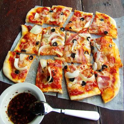 Thin crust pizza, homemade pizza, easy homemade pizza, bread flour pizza, thin crust pizza dough recipe, thin crust pizza dough, thin crust pizza recipe