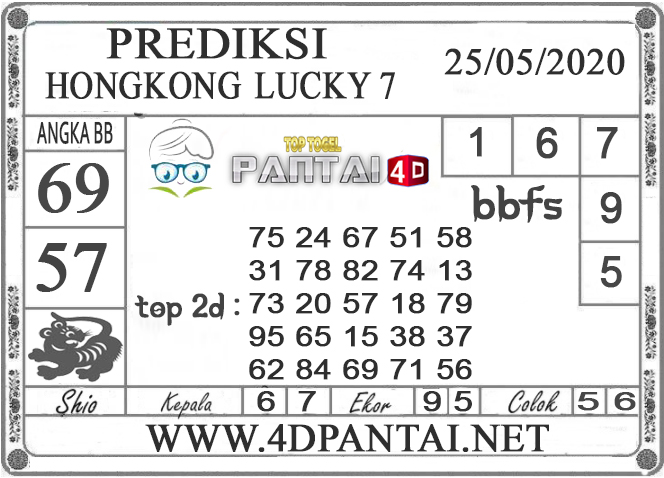 PREDIKSI TOGEL HONGKONG LUCKY 7 PANTAI4D 25 MEI 2020
