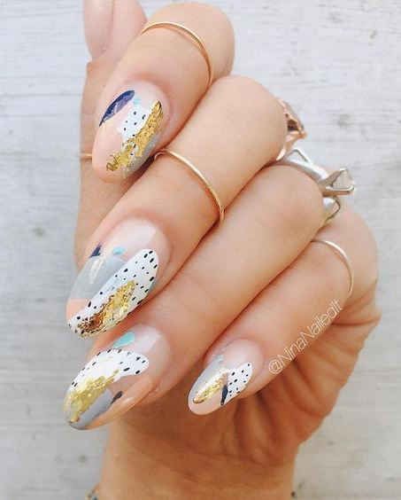 trendy nail art design for this fall