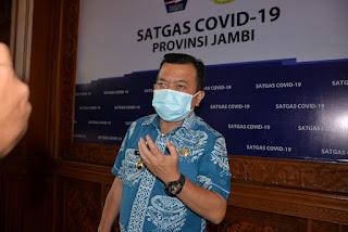 Gubernur Jambi Al Haris Dukung Wali Kota Jambi Lakukan Penyekatan Menekan Kasus Covid-19