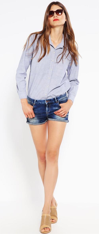 Short femme court en jean bleu délavé LTB