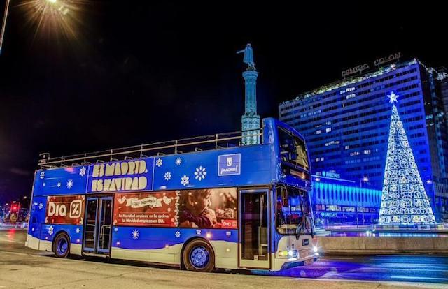 Ônibus Naviluz em Madri
